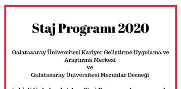 Staj Programı 2020